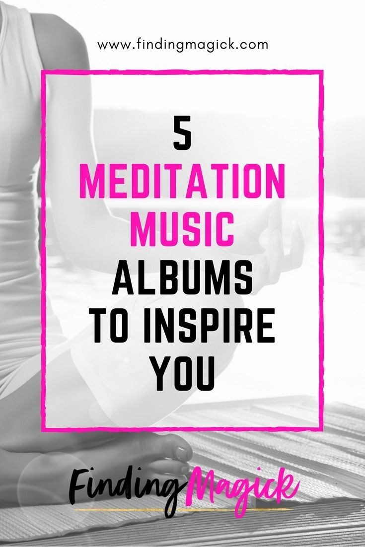 Have you tried meditating with music? Very different than silence, but equally amazing if you're open to it! These five meditation music albums will inspire you with their relaxing songs and calm yet rhythmic tunes. #meditation #music #songs #relaxingmusic #relaxation #stressrelief #stressmanagement #calm