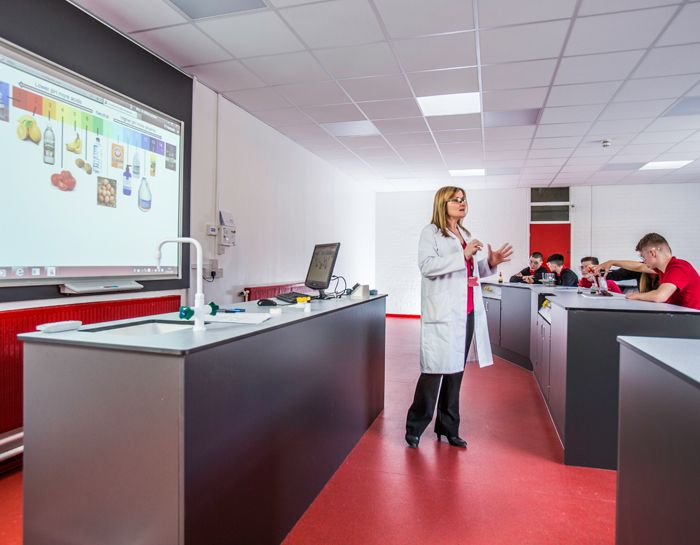 As part of the Welsh Assembly Challenge Cymru Programme, St Martin's School transformed a music room into a spacious, state-of-the-art science classroom.
