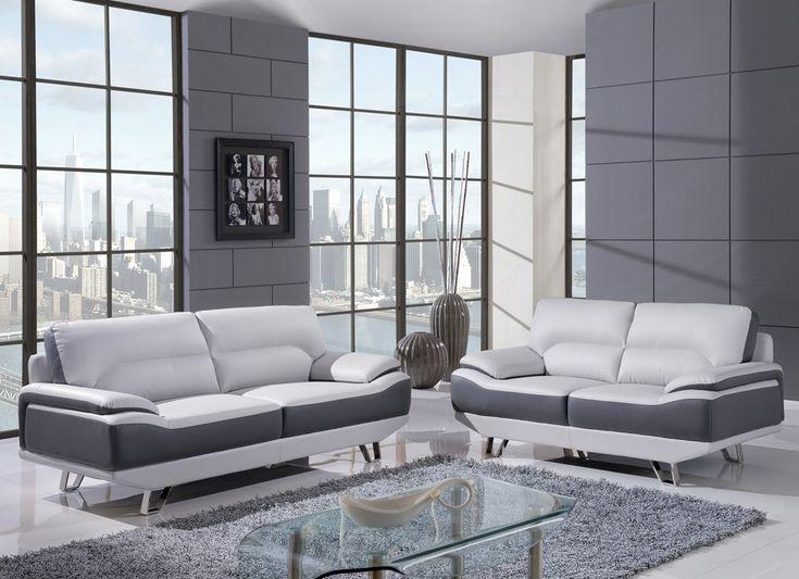 Captivating Light Grey Leather Sofa Part 12