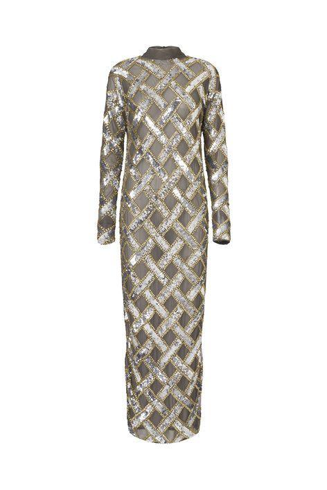 Broadway Glitter Dress, Smoked Pearl