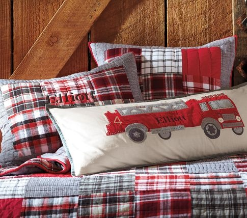 Firetruck Pillow Little Boys Room Pinterest Pottery