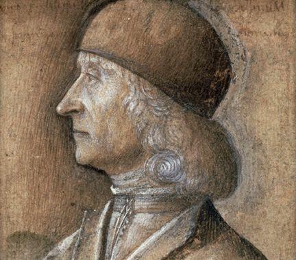 Detail from Vittore di Matteo Belliniano, Portrait of a Man (Giovanni Bellini)