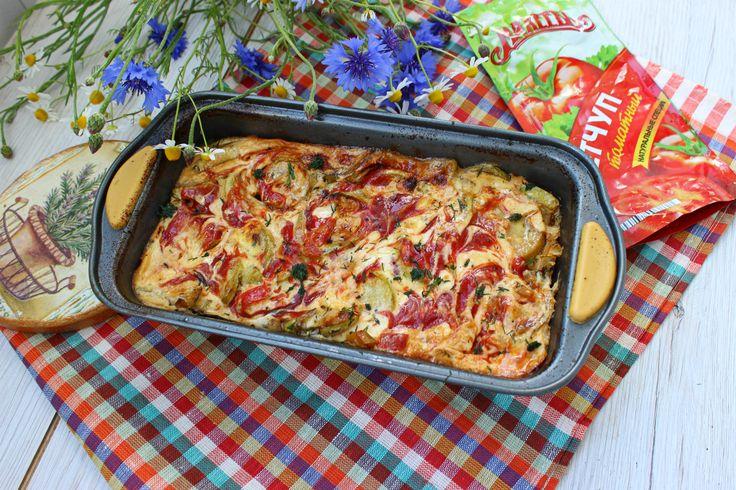 Запеканка из курицы с овощами Летняя