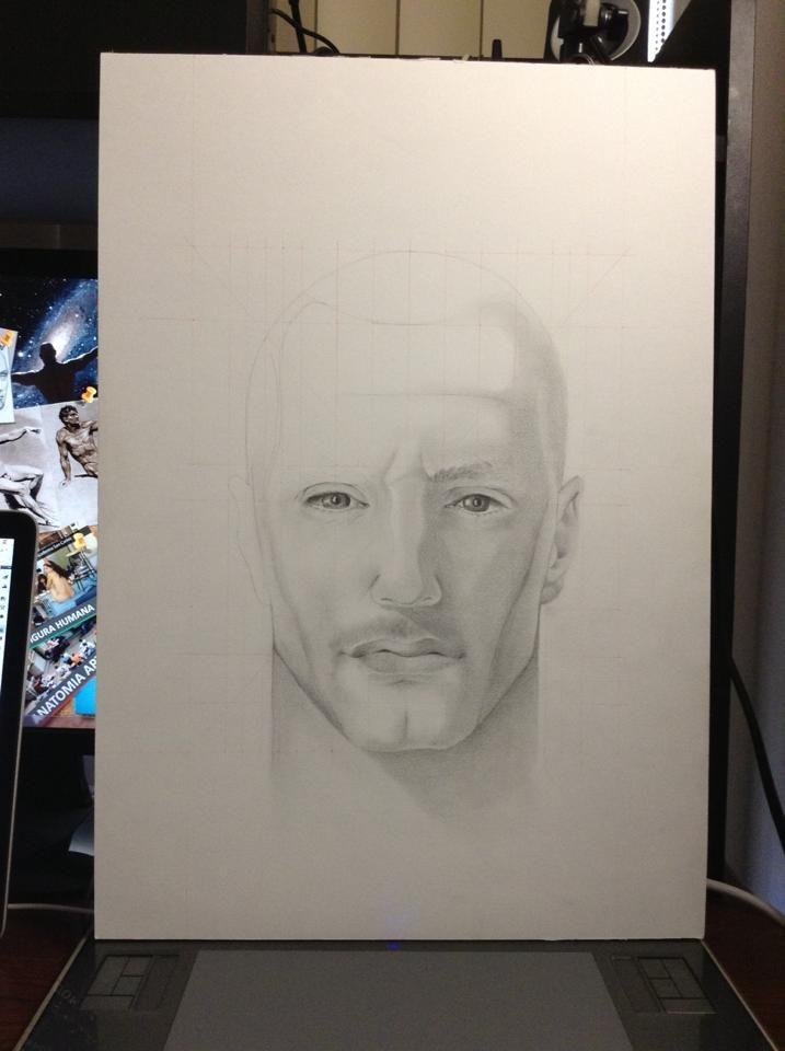 Estudio de rostro: planos, proporciones y puntos de referencia #drawing #artist #anatomy #draw #art