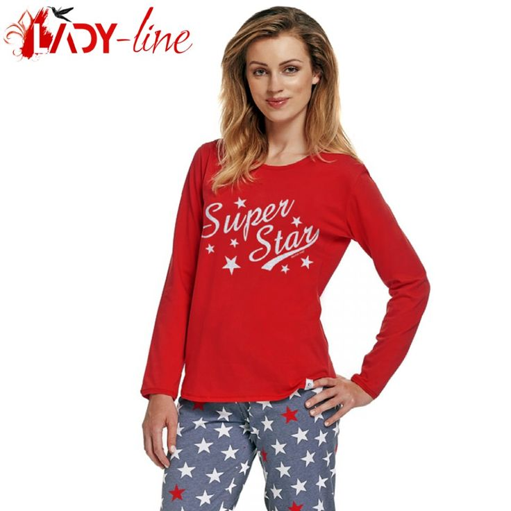 Poze Pijama Dama Maneca/Pantalon Lung, 'Super Star', DN-Nightwear