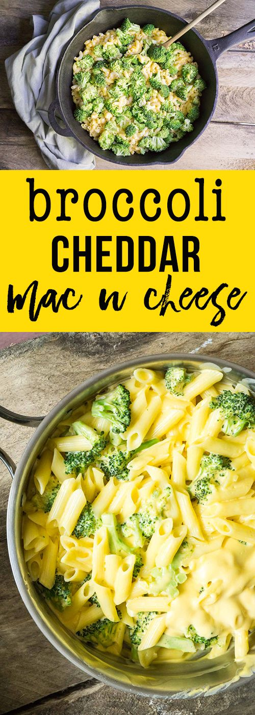 Broccoli cheddar mac n cheese: healthier and just as quick as Kraft Dinner!