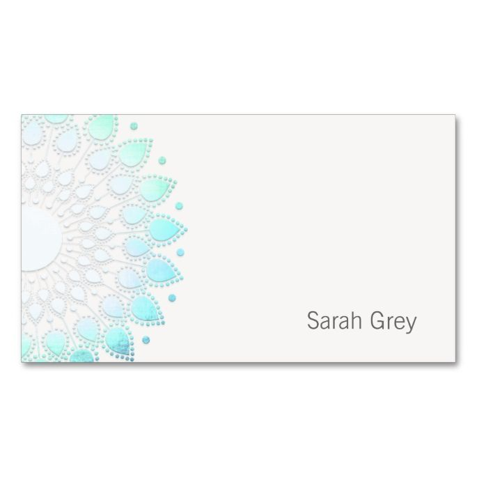 2156 best yoga business cards images on pinterest business cards simple turquoise foil look business card colourmoves Image collections