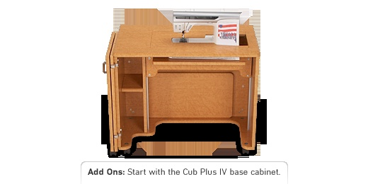 Koala sewing cabinets are quality construction and totally customizable.