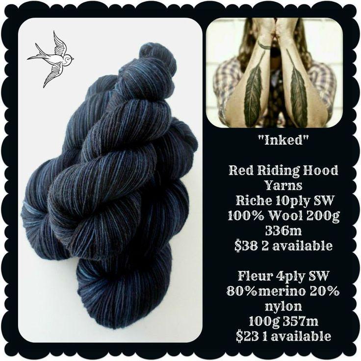 "Inked - FeatherBrush Yarns ""Feathery"" showcase | Red Riding Hood Yarns"