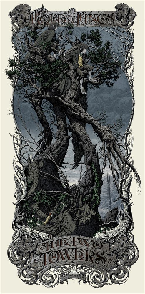 Watching: The Lord of the Rings: The Two Towers /// art by Aaron Horkey
