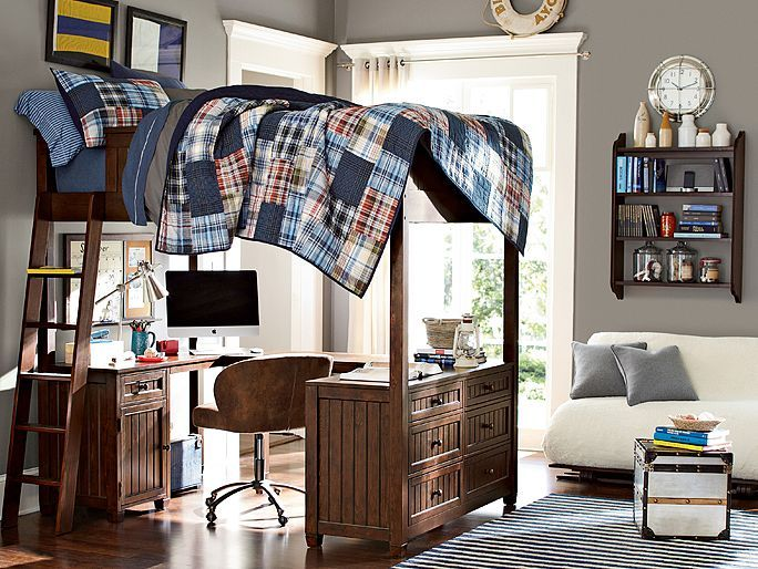 I love the PBteen Beadboard Regatta Loft Bedroom on pbteen.com