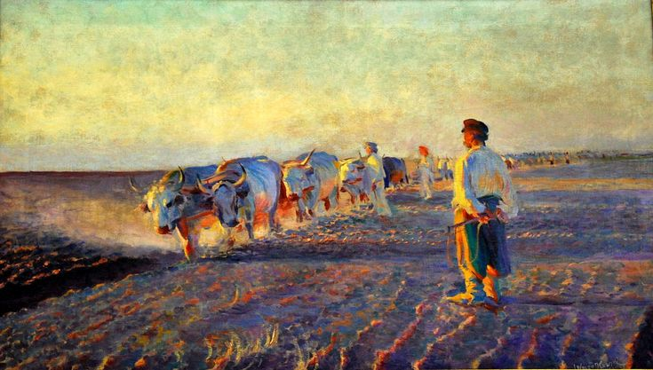 From Wikiwand: Plowing fields in Galicia, Leon Wyczółkowski, 1892, National Museum, Kraków