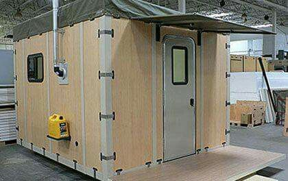 Modular house sleeps 6 for about $1600 built in under 30 min by 2 people.