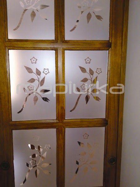 9 best images about vidrio esmerilado on pinterest - Vinilos para puerta ...