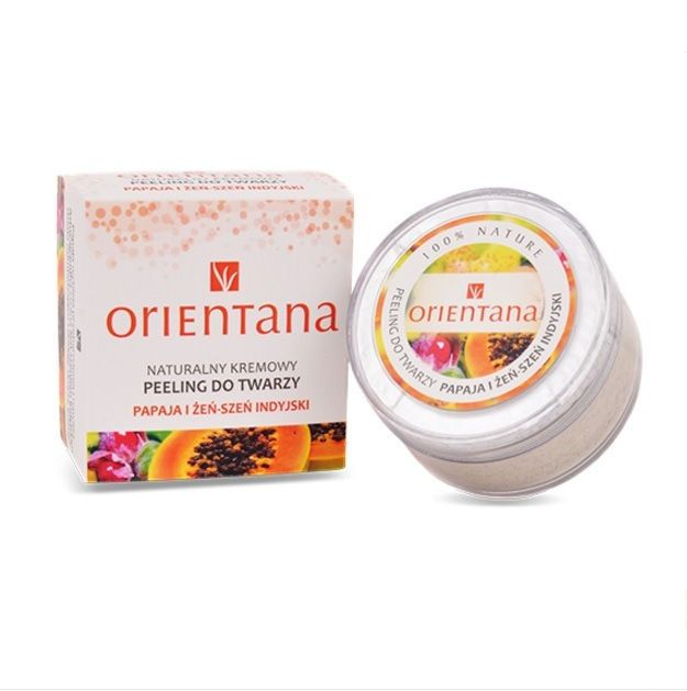 Orientana Peeling Papaja i żeń-szeń indyjski do cery normalnej | eBay