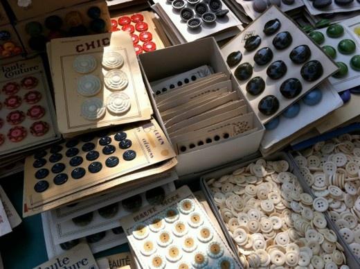 vintage, flea market, buttons.