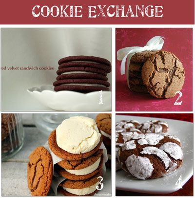 8 cookie recipes: Exchange Ideas, Christmas Cookies, Sandwiches Cookies, Cookies Recipes, Recipes Cookies Brownies, Cookies Exchange, Fun Cookies, Cookie Recipes, Recipes Cookiesbrowni