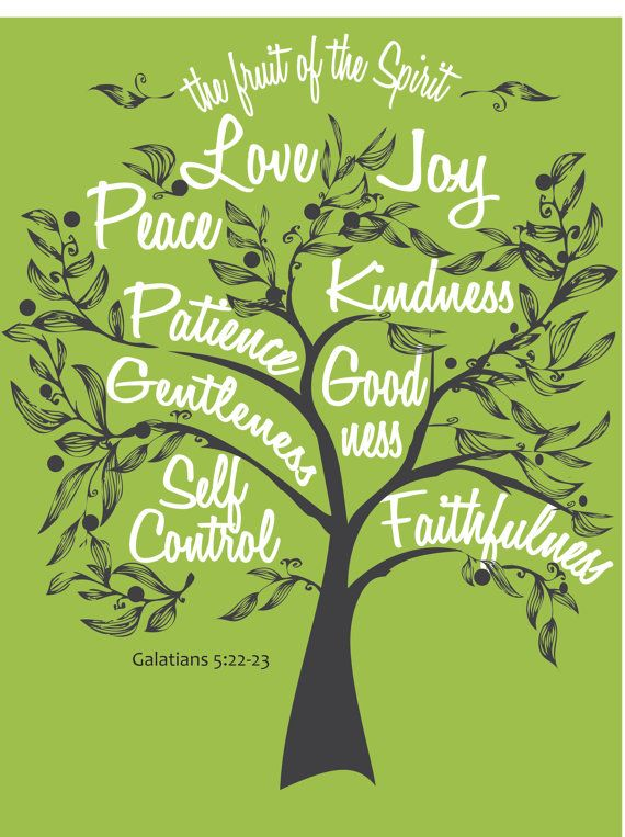 Fruit of the Spirit Digital DIY wall art graphics by Sparrowandink