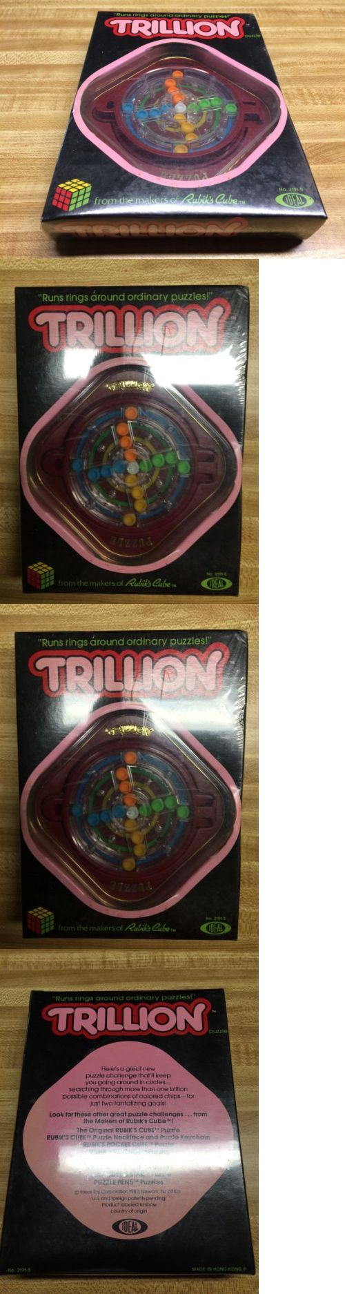 Brain Teasers and Cube Twist 19187: New Sealed Trillion Puzzle Game 1982 From The Makers Of Rubik S Cube -> BUY IT NOW ONLY: $89.95 on eBay!