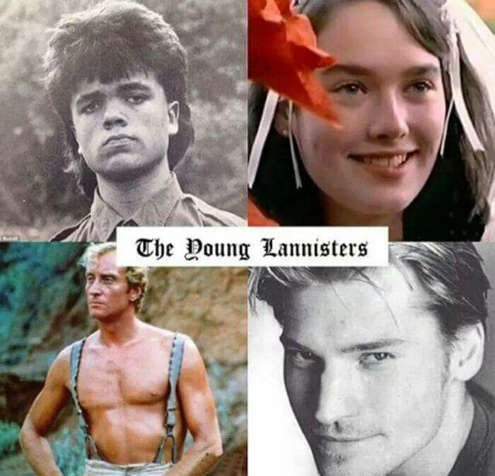 Youth photographs of the Lannisters from Game of Thrones.