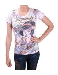 ED HARDY Christian Audigier Death Geisha Womens T-Shirt