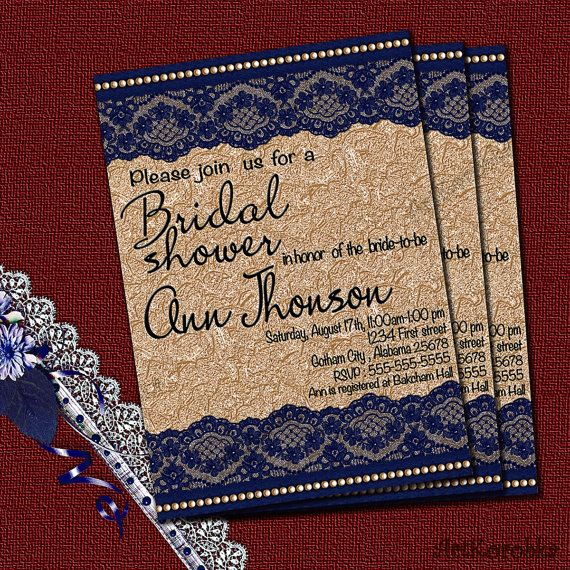 Shower Invitation  Vintage Invitation  Vintage Lace by Artkorobka