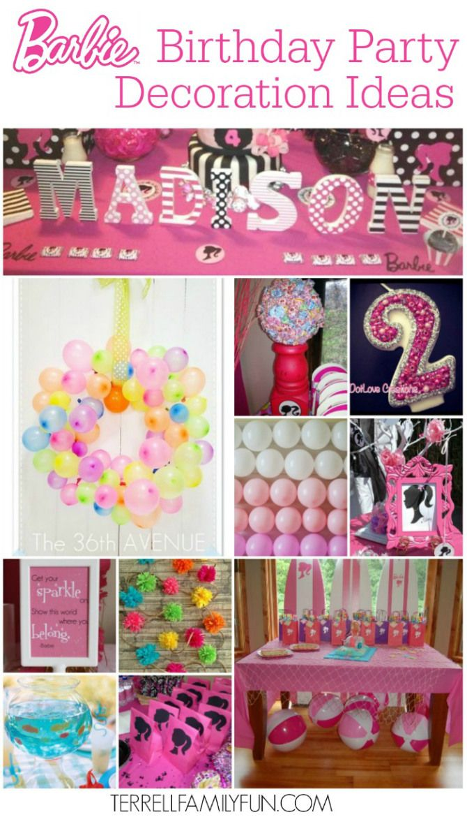 Barbie Birthday Party Decorations
