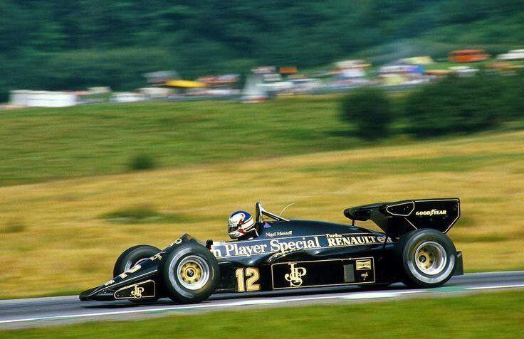 Nigel Mansell - Lotus-Renault - Österreichring, Austrian Grand Prix - 1984