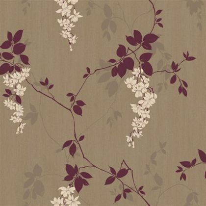 Arthouse Vintage Fuchsia Wallpaper - Plum at Homebase -- Be inspired and make your house a home. Buy now.