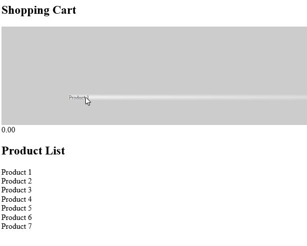 Using HTML5 Drag And Drop To Create A Shopping Cart