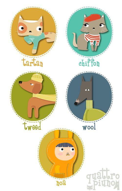 Ecco i fantastici personaggini di #quattropiuno