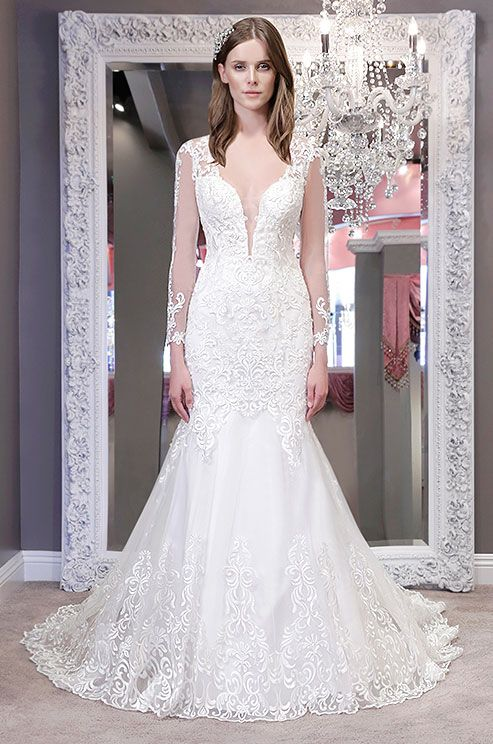 486 best long sleeved wedding dresses images on pinterest for Drop sleeve wedding dress