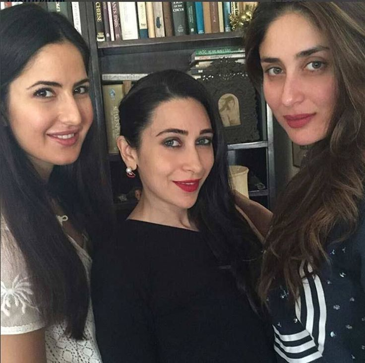 Katrina Kaif with Kareena and Karisma Kapoor