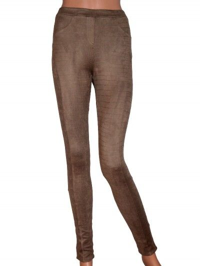 Crocco Leggings - Brown