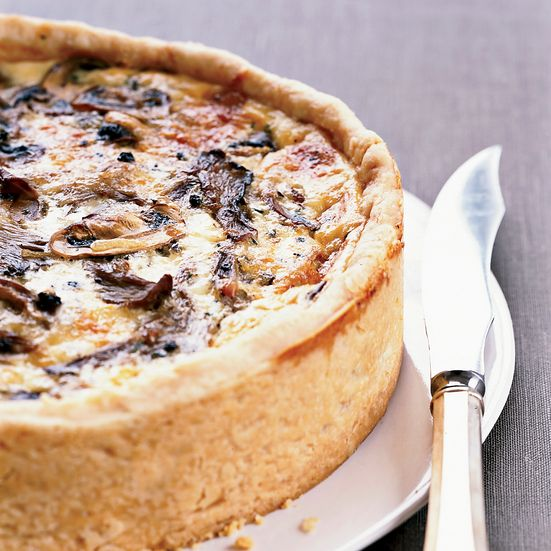 Thomas Keller's Over-the-Top Mushroom Quiche recipe combines silky egg custard with sautéed mushrooms and cheese—and rises several dramatic inches. It just might be the best quiche recipe ever.