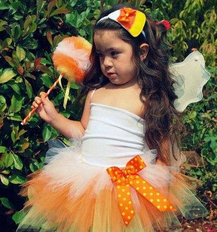 5-Piece Couture Candy Corn Fairy | Handmade | $45