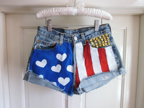 fourth of july jean shorts