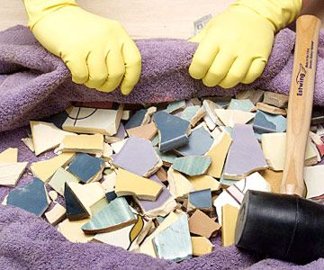 Tiling a Birdbath - How to Tile Decorative Accents - Tile & Tiling ...