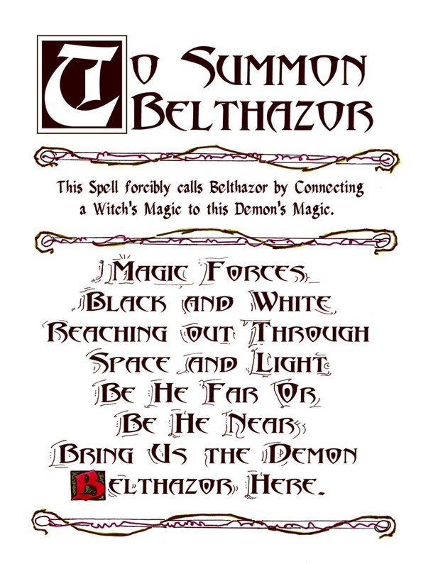 Best 25 summoning spells ideas on pinterest magick spells charmed series book of shadows belthazor summoning spell metaphysic study fandeluxe Document