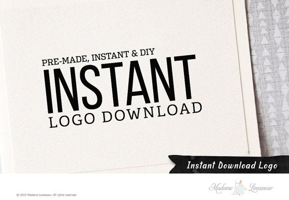 DIY Instant Download Logo Design Boutique Logo Bird Logo Template PSD Photoshop Logo