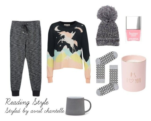 Reading Style by avrilchantelle on Polyvore featuring Wildfox and Butter London