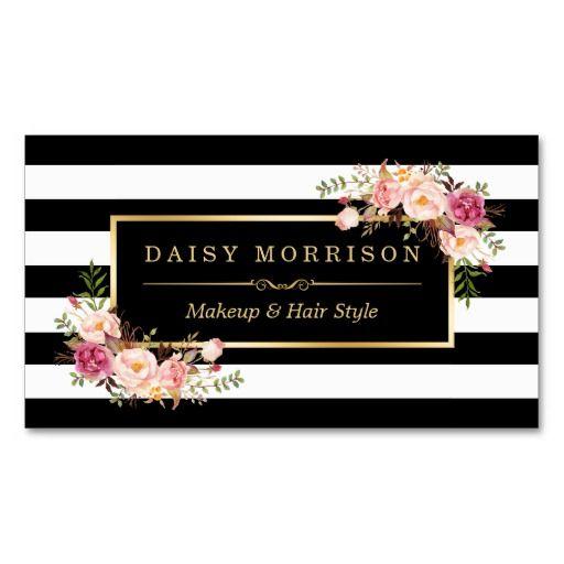 51 best makeup artist business cards images on pinterest makeup makeup artist beauty salon gold vintage floral business card reheart Gallery