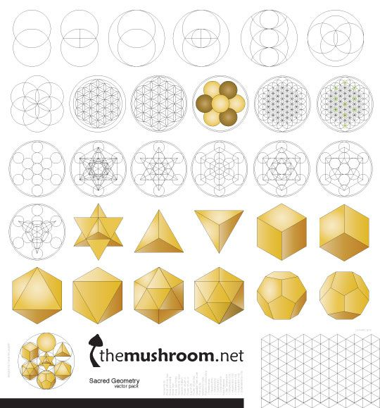 Awesome collection of vector graphics for those who like a good start with creating their own sacred geometry art!