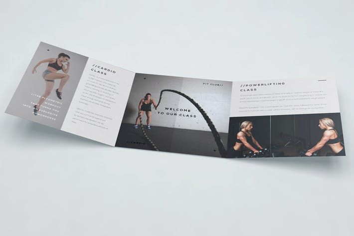 Gym Trifold Brochure #flyer #gym Download : http://1.envato.market/c/97450/298927/4662?u=https://elements.envato.com/gym-trifold-brochure-LBRS95