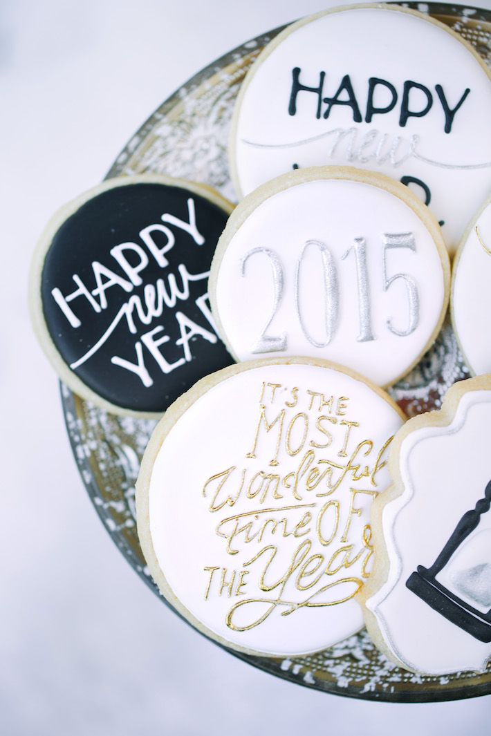 happy new year sugar cookies