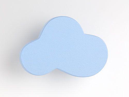 Wolke blau - Möbelgriff / Möbelknopf für Kinderzimmer