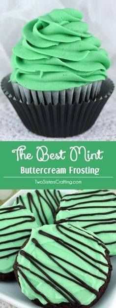 The Best Mint Buttercream Frosting - our delicious buttercream frosting infused with a light taste of Mint. Light and fresh and creamy this yummy homemade butter cream frosting will take whatever you are baking to the next level we promise! Pin this tasty Mint Icing for later and follow us for more great Frosting Recipes!