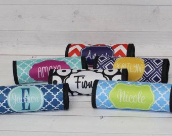 Monogram Luggage Wrap and Luggage Tag SET  by happythoughtsgifts