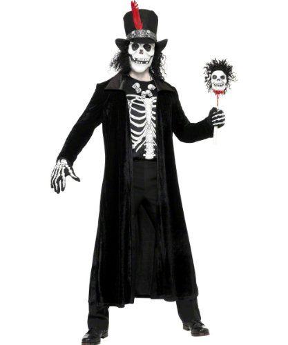 Voodookostum Kostum Voodoo Meister Skelett Skelettkostum fur Herren
