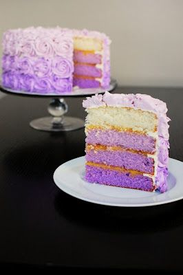 We should completely lose our minds and attempt to make this for the graduation party. School colors...rah!